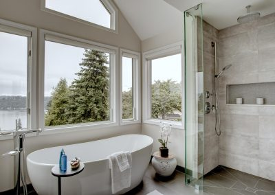 Sammamish Master Bath with a View